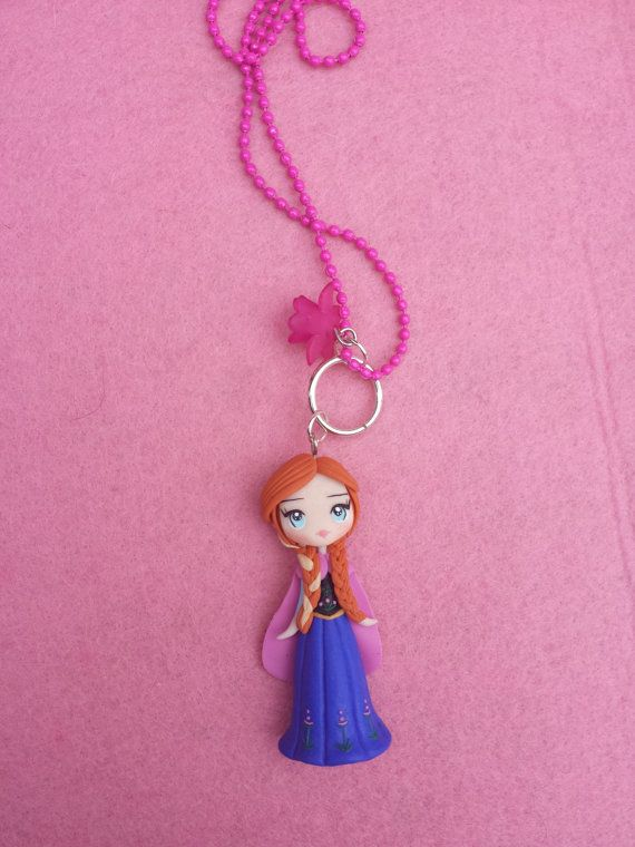 Anna Necklace the frozen film fimo polymer clay by Artmary2, €12.00