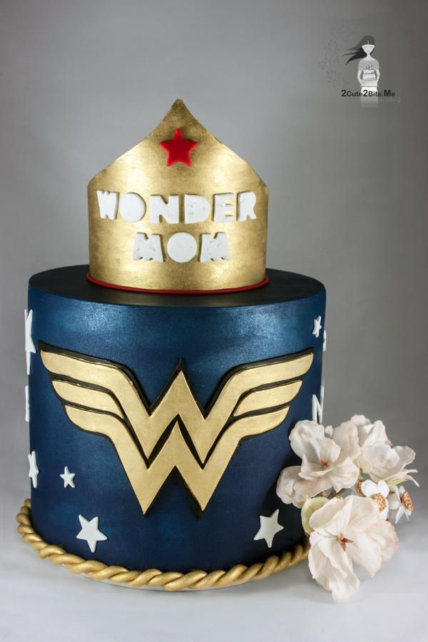 Wonder Mom By 2cute2biteme Ozge Bozkurt Mothers Day Cakes