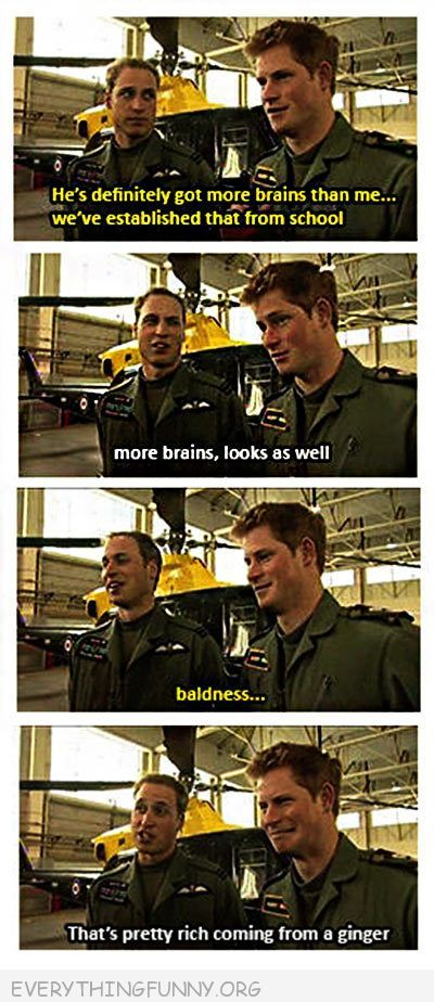 funny caption prince william harry baldness ginger