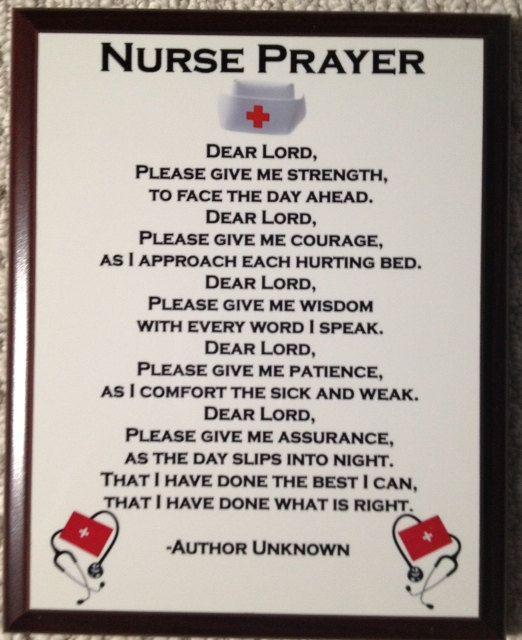 Nurse Prayer Plaque by DogHouseCarver on Etsy, $17.00
