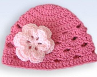 Crochet Baby Hat Baby Girl Hat Newborn Beanie Baby by LovelyKnits