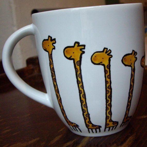 Giraffe Mug by agatka on Etsy, $18.00