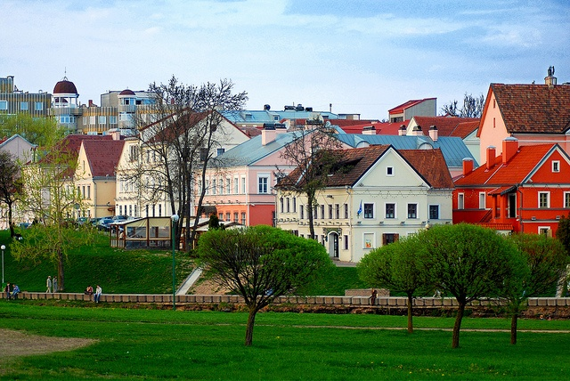 A neighborhood in Minsk, Belarus. Minsk is the capital and largest city of Belarus, situated on the Svislach and Nyamiha rivers.