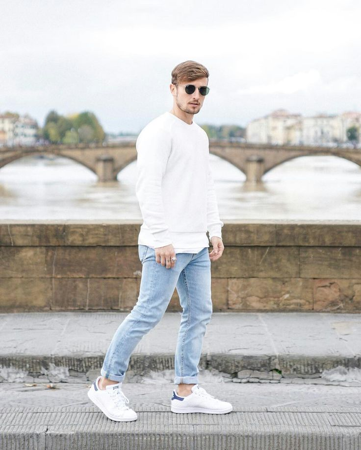 Men Outfit with White Shoes-16 Trendy
