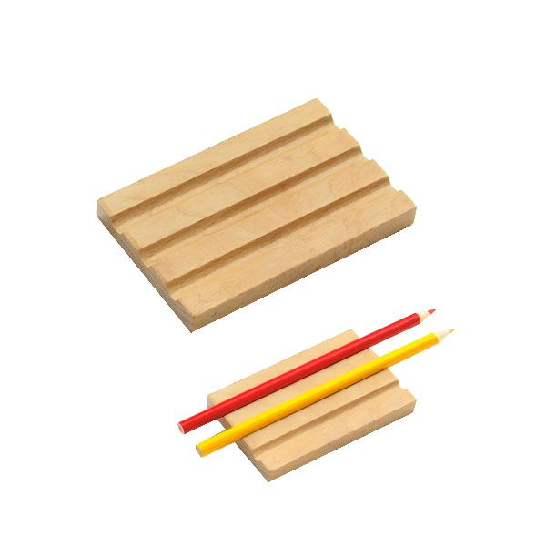 Holder for 3 Pencils from Montessori Outlet $1.95