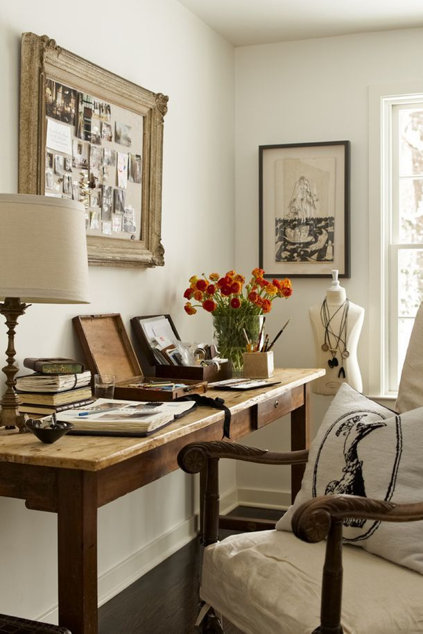 vintage shabby chic inspired office. 18 Fabulous, French-Inspired Home Offices Vintage Shabby Chic Inspired Office A