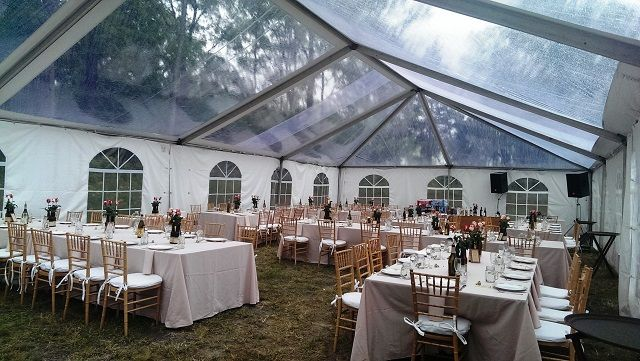 Hudson Valley NY - Clear Top Tent Cathedral Walls