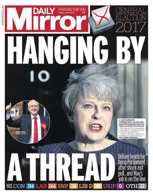 UK: Portadas de prensa tras las elecciones.