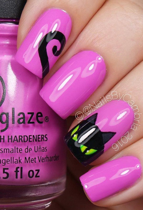 50 cool halloween nail art ideas - Halloween Easy Nail Art