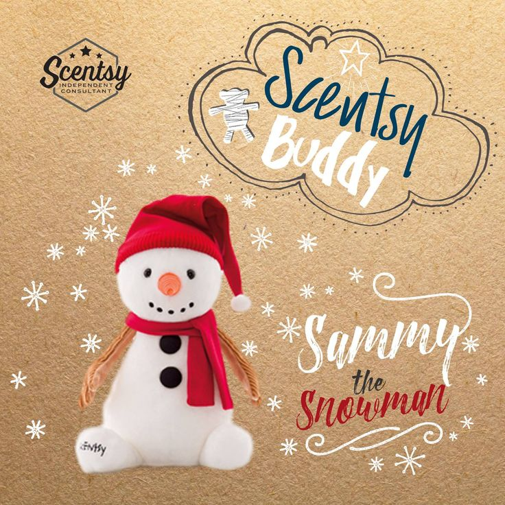 Don't miss your chance to bring Sammy our newest #ScentsyBuddy home. #wecanbuildasnowman #snowman #kids #gift https://casies.scentsy.us/shop/c/3451/scentsy-buddies
