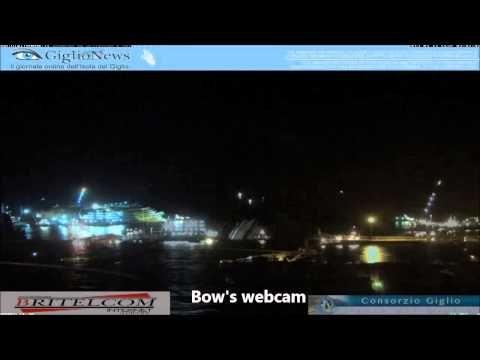 Costa Concordia Time Lapse