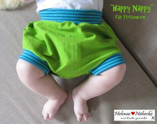 Freebook HappyNappy - Windelhose/ kurze Pumphose/Hose für Babys 56 - 92 nähen