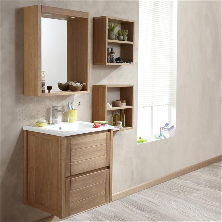 32 best images about salles de bain on pinterest for Armoire salle de bain leroy merlin