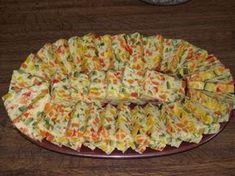 courgette, carotte, poivron rouge, oignon, oeuf, crème fraîche, semoule, gruyère râpé, persil, beurre, muscade, poivre, Sel