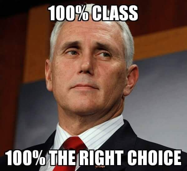 Pence.....I LOVE THIS MAN.....HE SPEAKS THE TRUTH AND TELLS IT LIKE IT IS.....I'M VOTING FOR TRUMP PEOPLE ALL THE WAY TO THE WHITE HOUSE NO MATTER WHAT....LET'S CLEAN UP WASHINGTON PEOPLE....THEY HAVE BEEN CORRUPTING WASHINGTON FOR FAR TOO LONG.......VOTE TRUMP.!!!!!