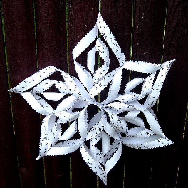 music note snowflakes