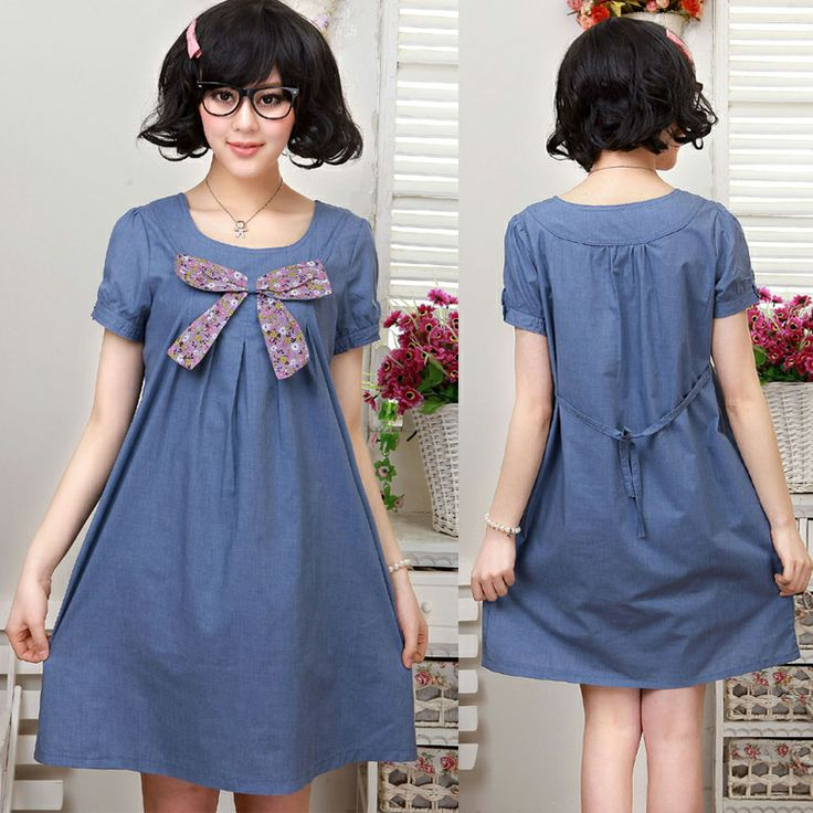 2014 summer maternity dress faux denim maternity cotton one-piece dress maternity clothes for pregnant women
