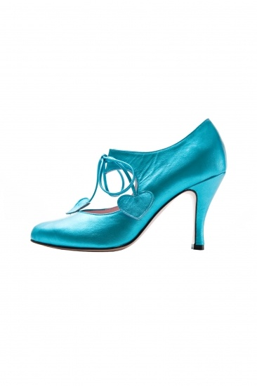 metallic turquoise Minna Parikka shoes  to love from afar in blue too....