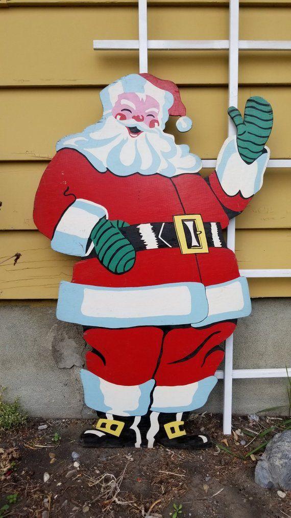 Old Saint Nick Santa Christmas Yard Art Woodworking Plans by Sherwood Creations