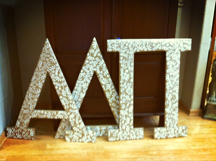 Eta pi recruitment letters. I helped Paint these!!