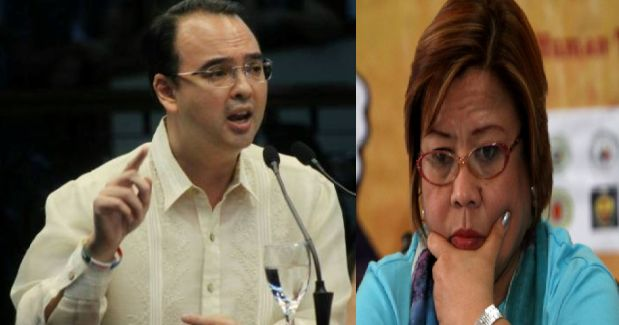 """Foreign Affairs Secretary Alan Peter Cayetano has tagged detained Senator Leila de Lima as a """"DDS"""" - a destabilizer drug syndicate spokesperson. Siya naman DDS din siya. Kung kami DDS o 'Die Hard Duterte' supporter siya din DDS... destabilizer drugs syndicate spokesperson. Cayetano said in an interview after his trip to Geneva. It was an apparent reply to an earlier statement by De Lima that Cayetano is an international spokesperson for a death squad government. Cayetano also pointed out…"""