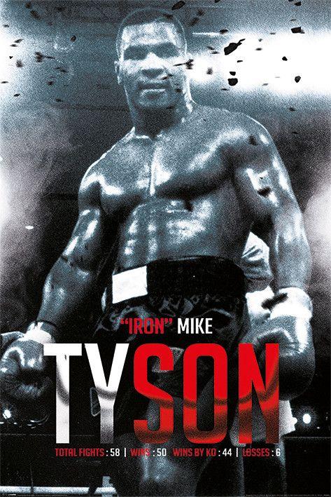 Plakat, Obraz Mike Tyson - Boxing Record   Kup na Posters.pl