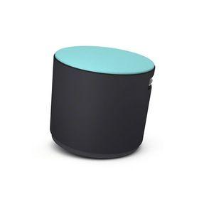 Black Buoy Stool, Aqua Seat | Poppin
