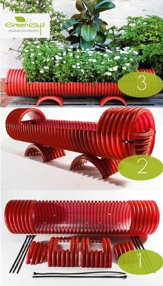 DIY recicla una tubería plástica