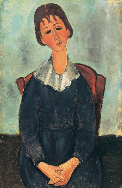 アメデオ・モディリアーニ《少女の肖像(ジャンヌ・ユゲット)》1