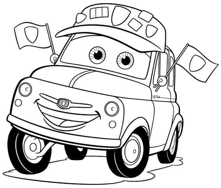 7 Best Images Of Cars Movie Coloring Pages Printable Cars