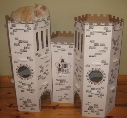 <b>All you need is cardboard, a utility knife, and a way to draw your cat away from the cardboard that you'll transform into an architectural masterpiece.</b>