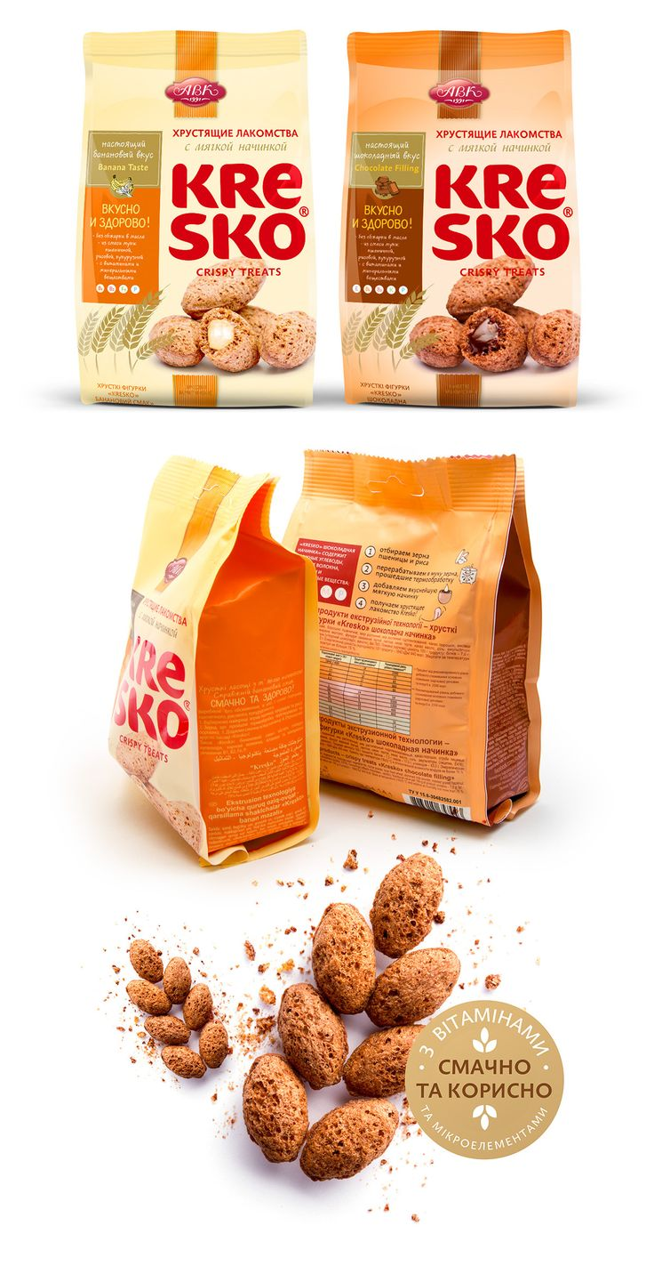 Packaging design for AVK Confectionery company. More