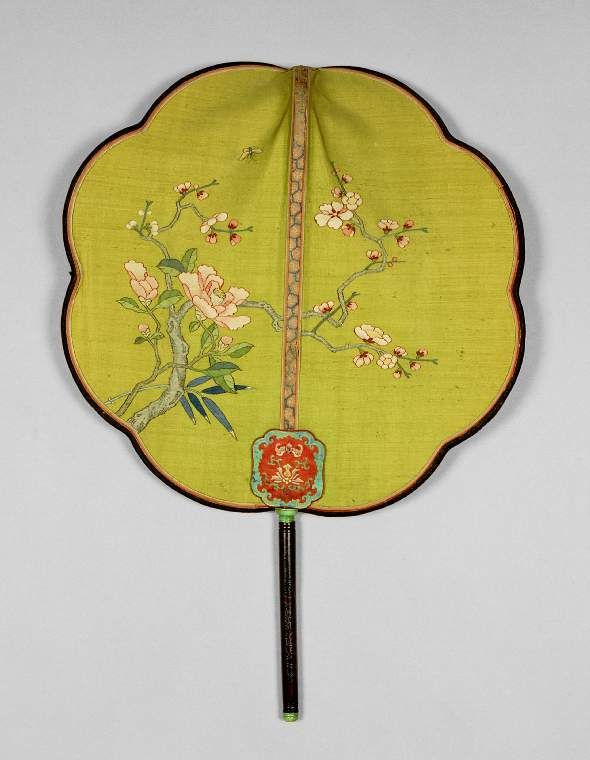 Chinese screen fan - circa 1800s. Fitzwilliam Museum Collections Explorer - Object O.26-1985 (Id:118434)