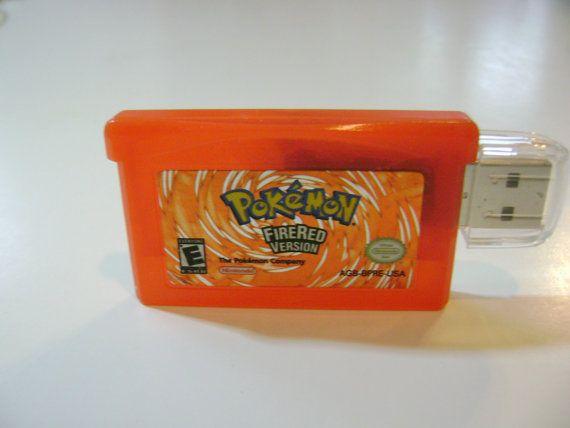 Pokemon Fire Red 8 Gb USB 2.0 Flash Drive - Gameboy ...