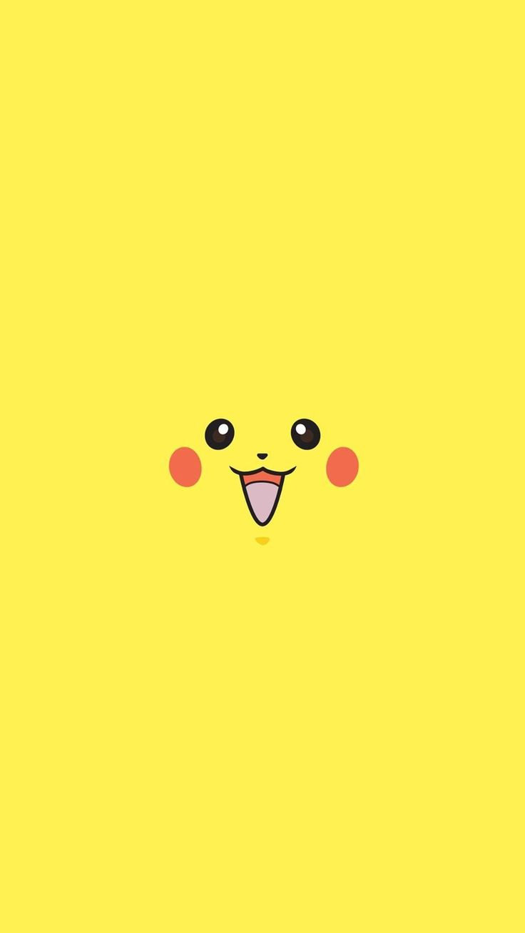 Pikachu Pokemon Minimal Flat iPhone 6+ HD Wallpaper - http://freebestpicture.com/pikachu-pokemon-minimal-flat-iphone-6-hd-wallpaper/