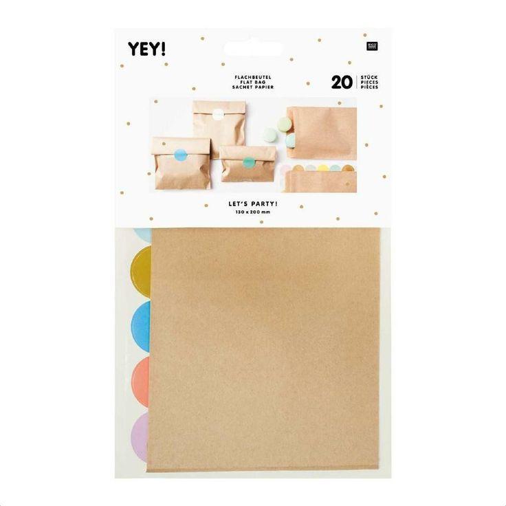 Papiertüten - 20 Flachbeutel Papiertüten Kraftpapier & St... - ein Designerstück von krealiebst bei DaWanda