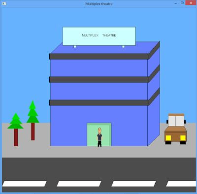 Multiplex - C++ graphics program - Theater view
