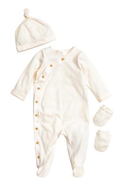 e0278349e Conjunto de recién nacido - Blanco natural - NIÑOS | H&M ES 1 | For ...