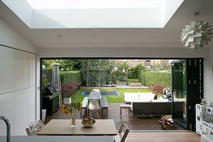 Homes - Homes for Heroes: interior of kitchen and garden area