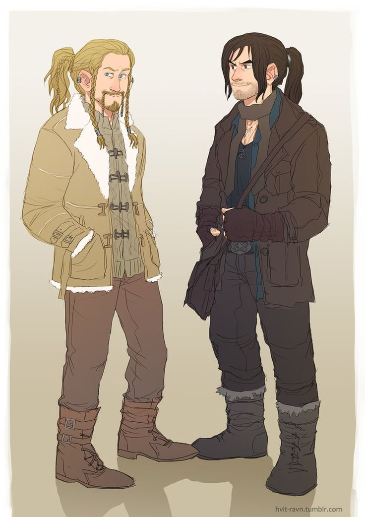 modern fili and kili by ~PabutteGO on deviantART (ooh, yes, outsiders, fringes of society, young princes running wild, so many places to go there)