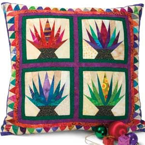 Christmas Cactus Pillow Large Friday Freebie Christmas Cactus Pillow Pattern. Quilting ...