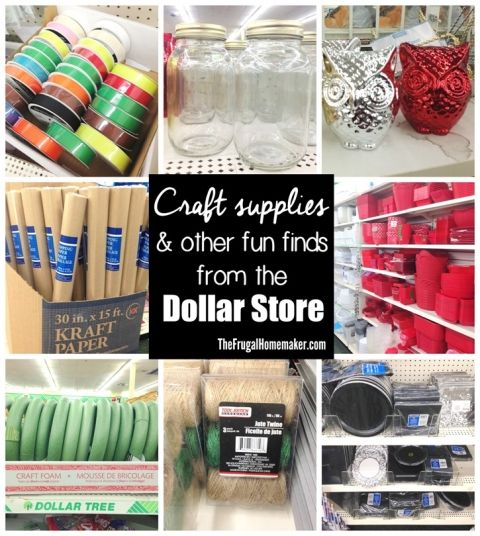craft supplies other fun finds from the dollar store bargain shopper 4ever pinterest. Black Bedroom Furniture Sets. Home Design Ideas