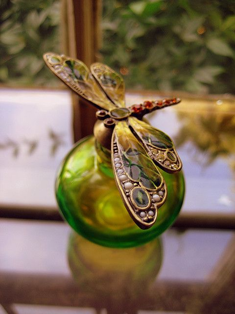DRAGONFLY PERFUME BOTTLE by aJ GAZMEN ツ GucciBeaR, via Flickr