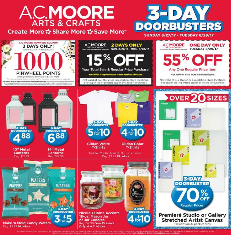 AC Moore Weekly Ad August 27 - 29, 2017 - http://www.olcatalog.com/home-garden/ac-moore-weekly-ad.html