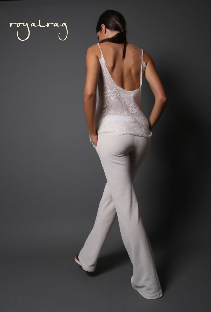 Did you miss our Open Back Top ? #royalrag #newcollection #aw1415 #newseason #openback #wool #lace #velvetpants