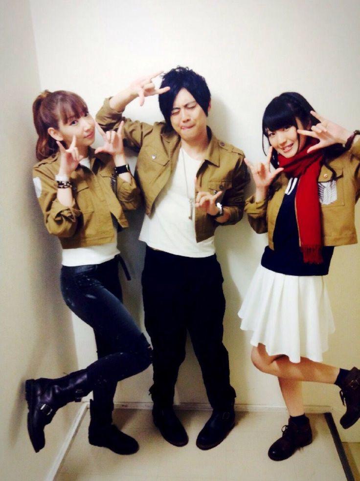 [SEIYUU] Hajime Isayama draws Yuki Kaji, Yui Ishikawa, Marina Inoue as their Attack on Titan characters - http://www.afachan.asia/2015/07/seiyuu-hajime-isayama-draws-yuki-kaji-yui-ishikawa-marina-inoue-attack-titan-characters/