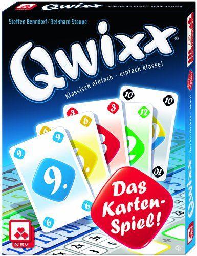 Eine der Spiele-Hits des Jahres: QWIXX - DAS KARTENSPIEL. Ab 2 Spieler, ab 8 Jahren, schnell erklärt, macht es super viel Spaß! Mit Familie oder Freunden!