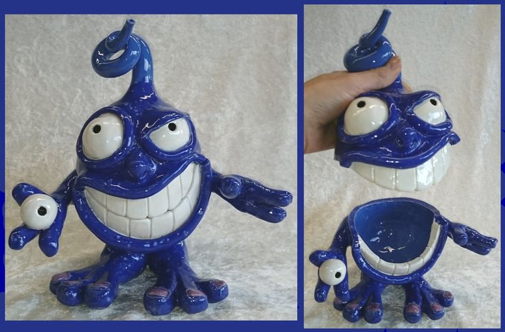 Claymonster jar By Rola Hengstman Inspired by Claymonster pottery