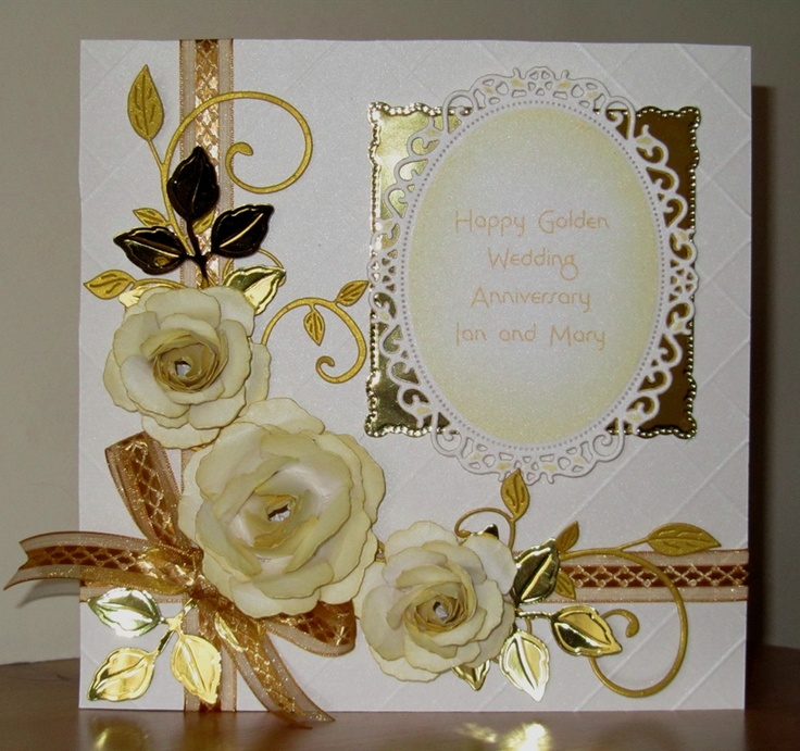 Golden wedding anniversary card by: Laney_Jay