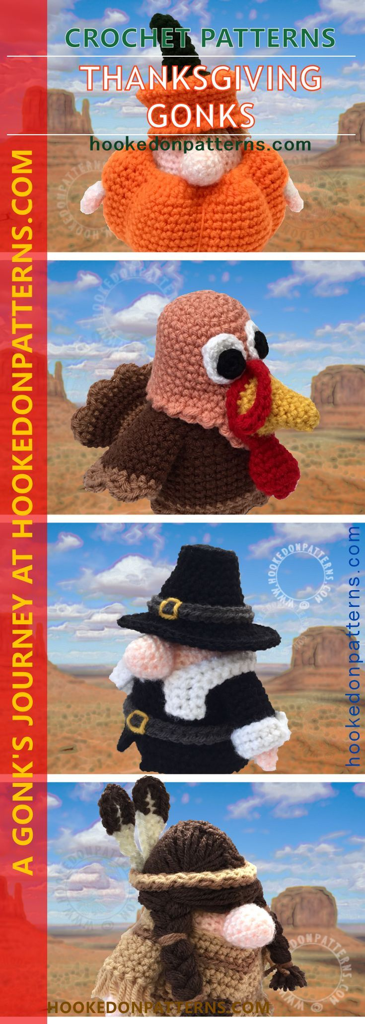 179 best crochetknitting for fall images on pinterest knit thanksgiving crochet gonk outfits bankloansurffo Choice Image
